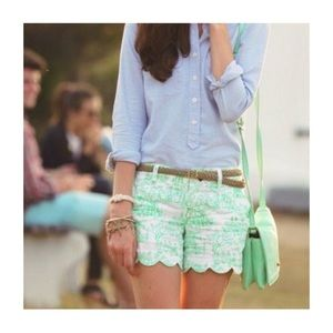Lilly Pulitzer Buttercup Shorts Spring Fever Toile